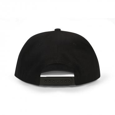 Snapback Black   White/Black Logo